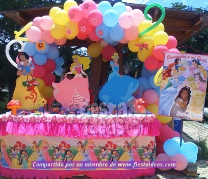 fotos decoracion de Princesas Disney