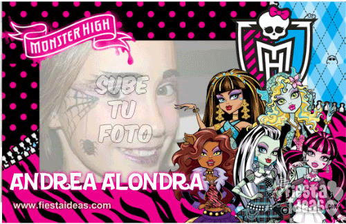 Marco de fotos Monster High Gratis fucsia