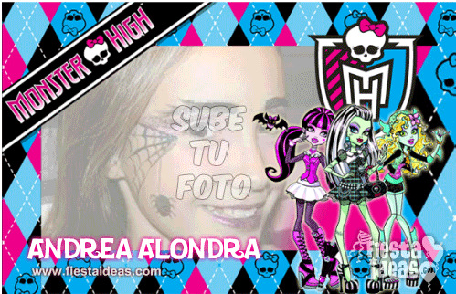 Marco de fotos Monster High Gratis azul