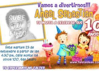 invitacion de cumpleaños con foto 3