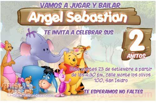 Invitaciones De Cumpleanos De Winnie Pooh Gratis - Para-hacer-invitaciones-de-cumpleaos