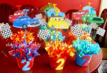 ideas de decoracin fiesta cars rayo mcqueen