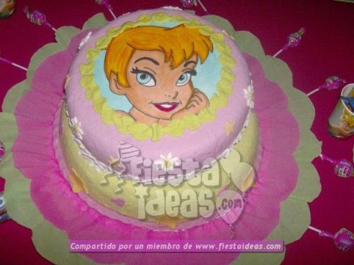 20 ideas para decoracion de tortas de Campanita - tinkerbell-013_min