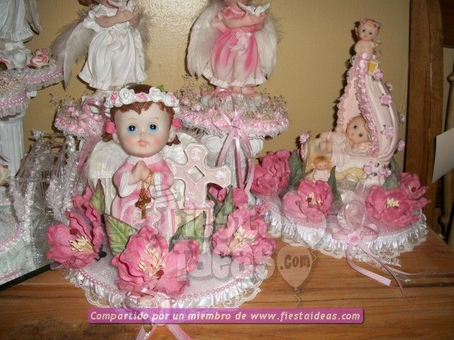 Ideas de decoraci n para una fiesta de bautizo - Decoracion para bautizo de nina en casa ...