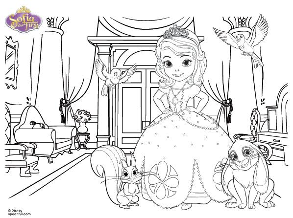 Imágenes de la Princesa Sofía para colorear