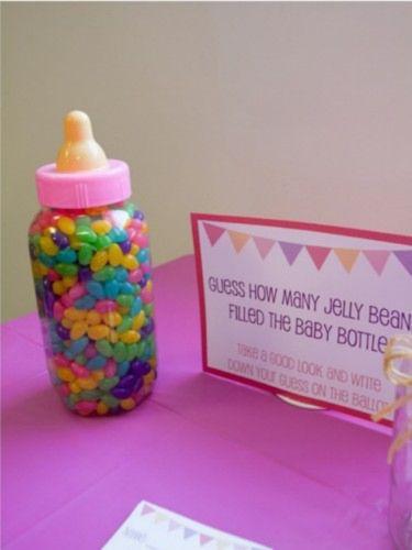 Juegos para Baby Shower cuantos caramelos hay en el biberon