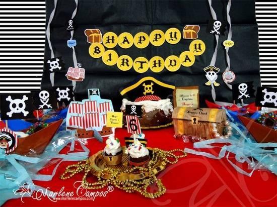 Decoracion de Fiesta de piratas super original