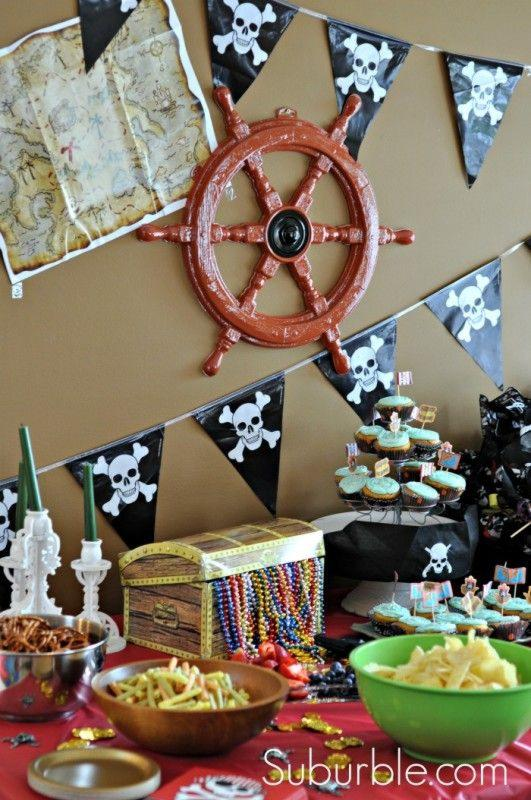 animaciones infantiles Decoracion de Fiesta de piratas super original