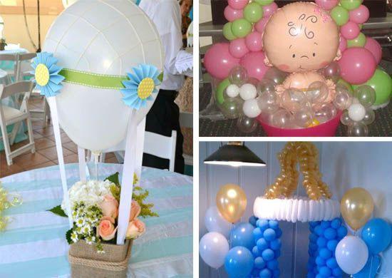 ideas para decoracion de baby shower con globos todas sonu