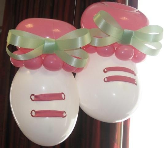 15 ideas para decoracion de baby shower con globos te - Ideas para decorar zapatos de nina ...
