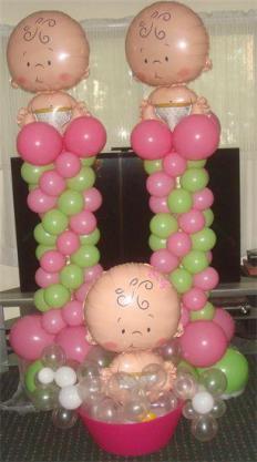 15 ideas para decoracion de baby shower con globos