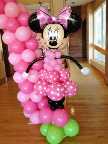 Fiesta de Minnie mouse decoracion con globos