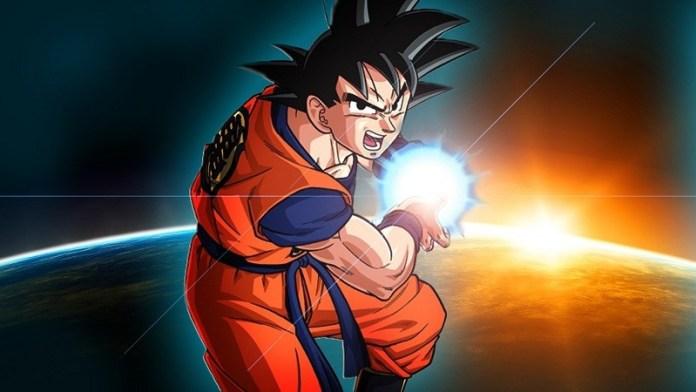 imagen de fondo para invitacion de Dragon ball z goku