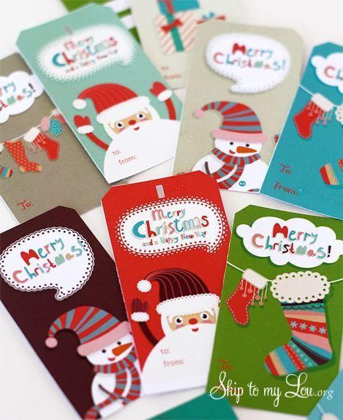Etiquetas de Navidad gratis Solo tienes que descargar e imprimir