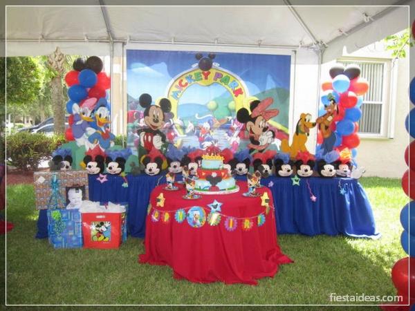 ideas de fiesta mickey mouse decoracion