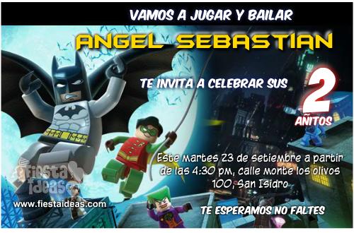 invitacion batman lego
