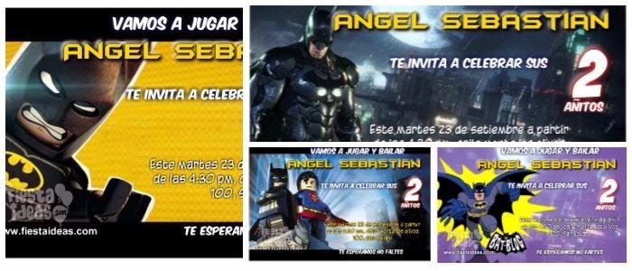 Invitaciones De Batman Nuevos Modelos Para Imprimir