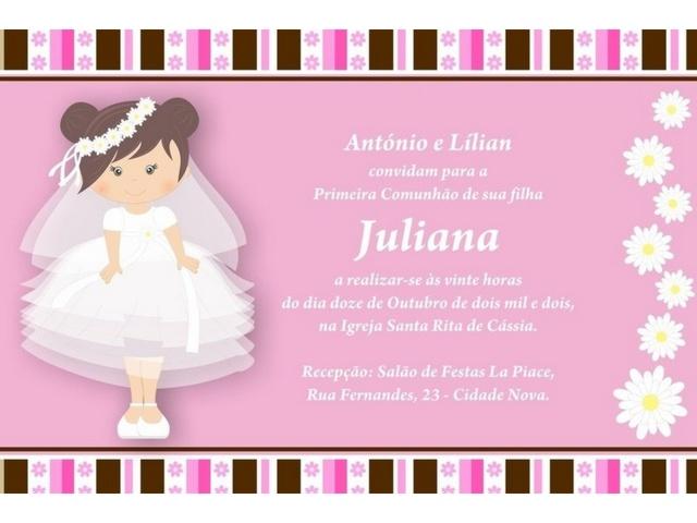 Invitaciones de primera comuni n originales para imprimir - Como hacer tarjetas de comunion ...