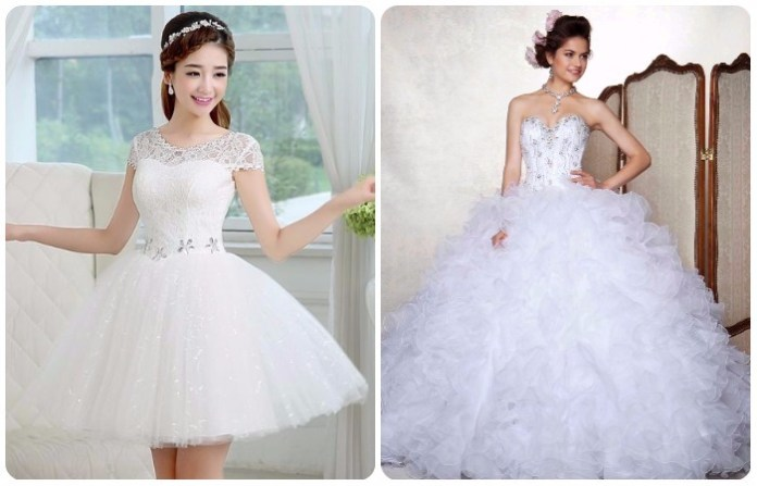 diseños de vestidos de 15 años blancos desmontables