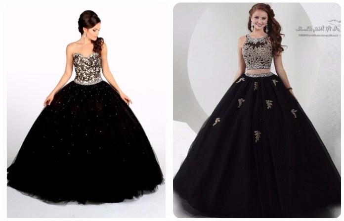 Vestidos de 15 años color negro