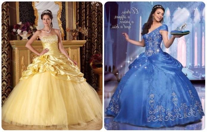 Hermosos vestidos estilo princesa para 15 años