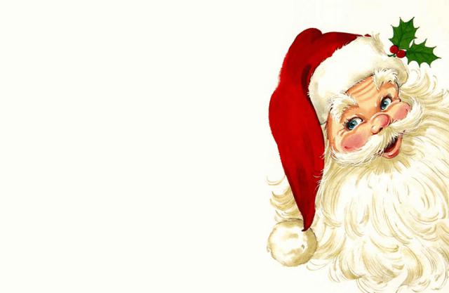 Foto de santa papa noel para tarjeta navideña