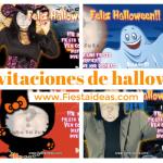 Invitaciones de Halloween para editar