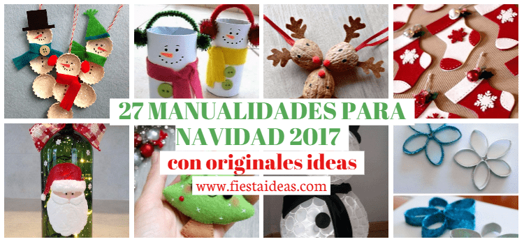 27 manualidades para navidad 2018 con originales ideas for Ideas originales de decoracion