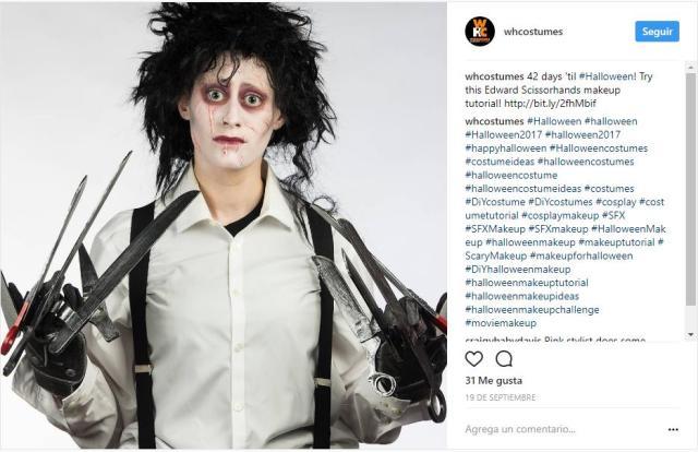 maquillaje para Halloween hombre que no pasan de moda