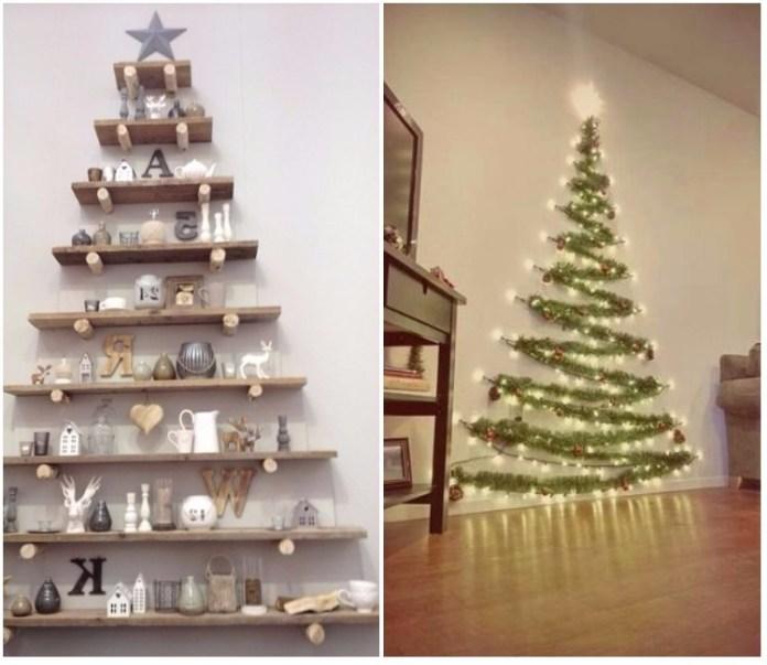 Arbol de navidad decorado originales tendencias 2018 - Ramas de arbol para decoracion ...