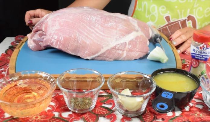 preparacion de pierna adobada de cerdo