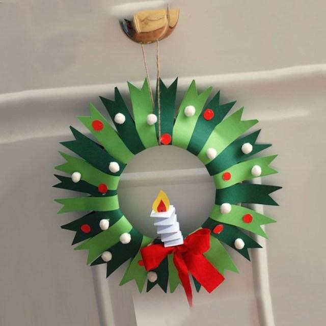 coronas navideñas de papel