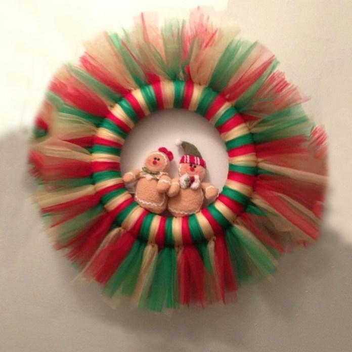 Coronas navideñas de tul