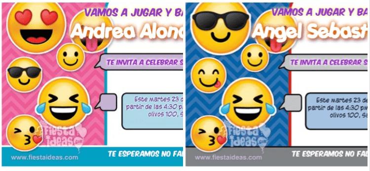 invitaciones de emojis