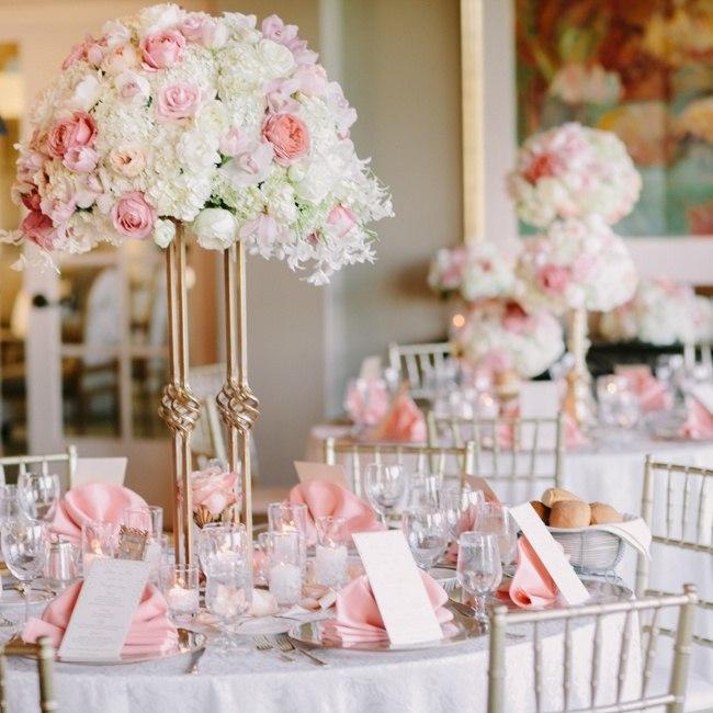Originales Centros de mesa para boda con arreglos de flores