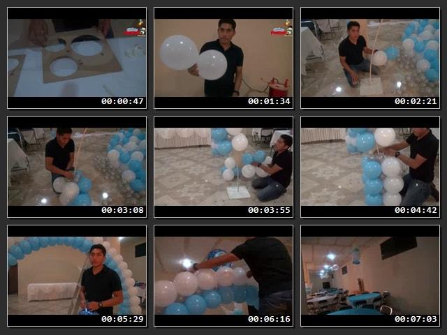 Cómo hacer arcos de globos para bautizo