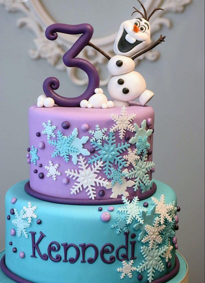 torta de olaf de frozen