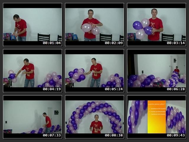 Cómo hacer un arco de globos