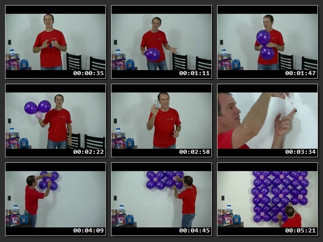 Cómo hacer una pared de globos