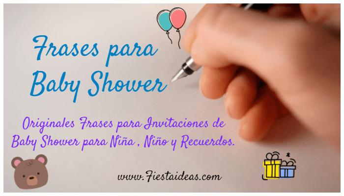 50 Frases Para Baby Shower Recuerdos Invitaciones