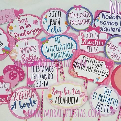 frases para photo booth de baby shower niña