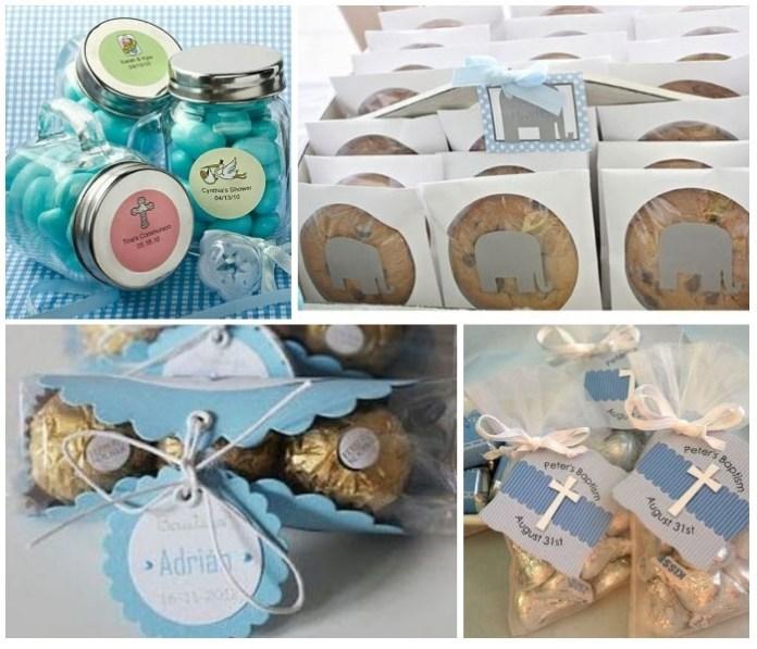 recuerdos para bautizo con dulces chocolates, caramelos
