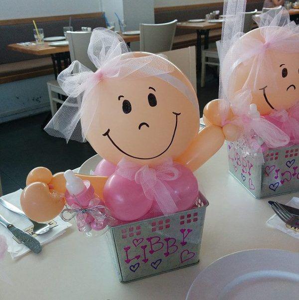 Bebitos de globos para baby shower