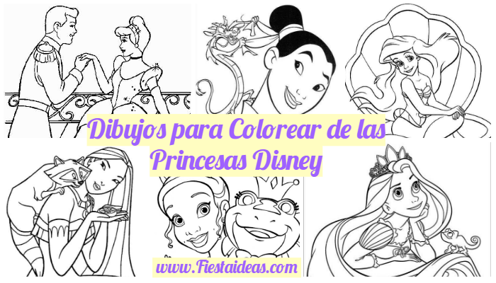 Dibujos Para Colorear De Todas Las Princesas Disney