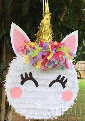 piñata de unicornios