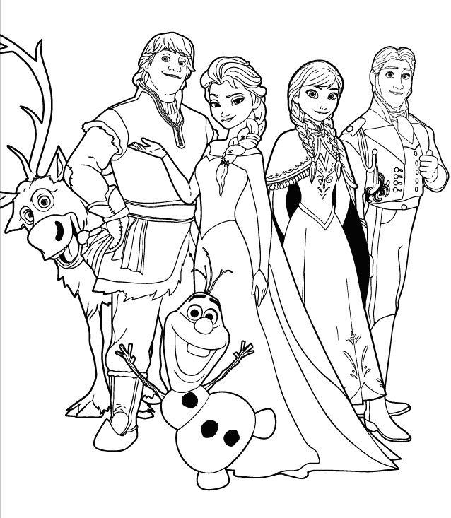 Dibujos para Colorear de Princesas Frozen