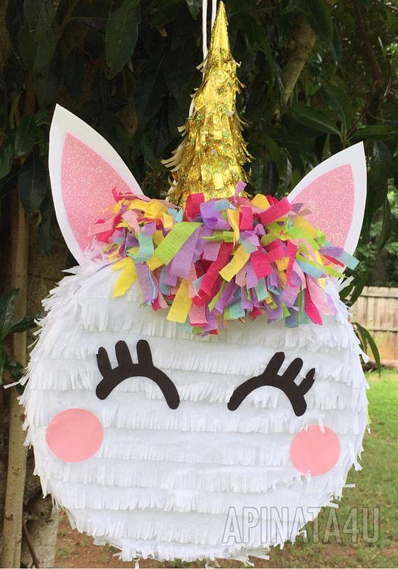 piñata de unicornio de tambor