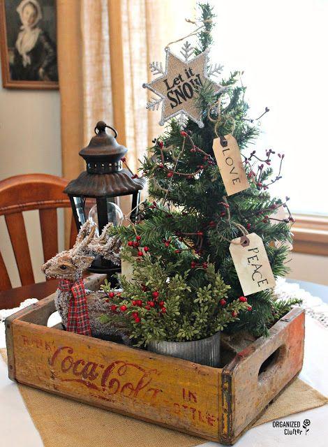 Centros de mesa para Navidad con arbolitos pequeños