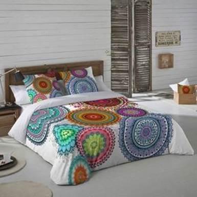 Mandalas textiles para decorar cubrecamas
