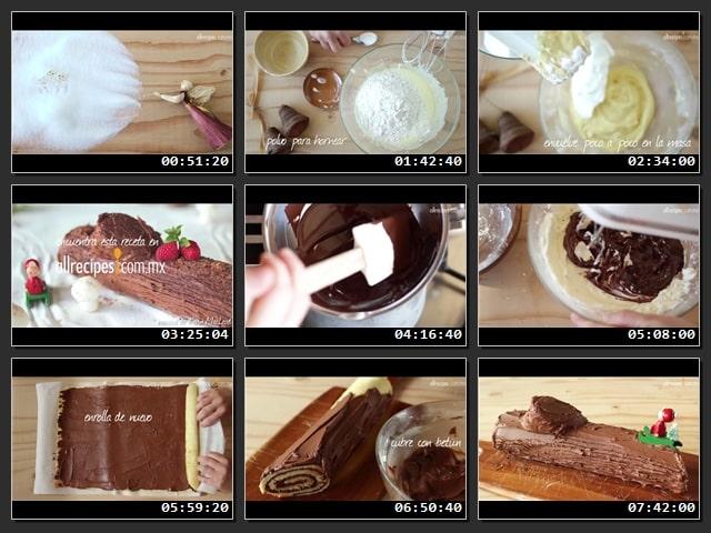 Como hacer Tronco de navidad de chocolate